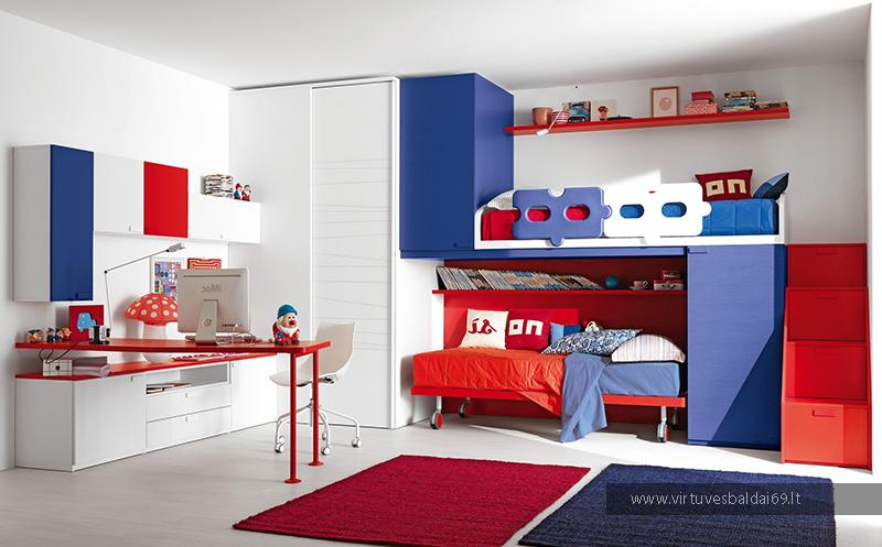 vaiku-kambario-baldai-sienines-spintos-spinteles